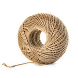 Skein of jute twine isolated on the white Stock Images