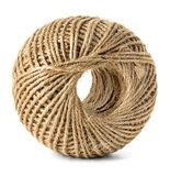 Skein of jute twine isolated on the white Stock Photo