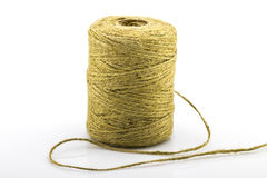 Skein of jute twine on the white Royalty Free Stock Photography