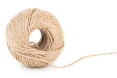 Skein of jute twine Royalty Free Stock Images
