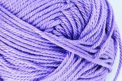 Skein of purple thread. Close up of skein of purple thread Stock Image