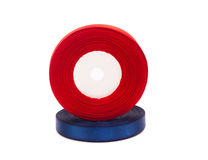 Skein of red ribbon Stock Photo