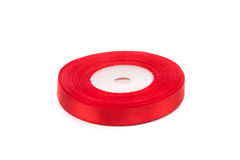 Skein of red ribbon Stock Images