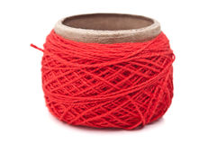 Skein of red yarn Royalty Free Stock Photo