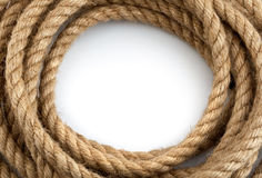 Skein of rope. On white background Stock Image