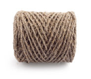Skein of rope. On white background Royalty Free Stock Photos