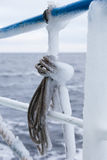 Skein of rope covered with ice Royalty Free Stock Photography