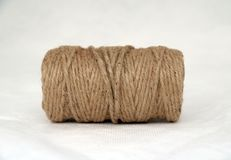 Skein of Rope jute on the white background. royalty free stock photography