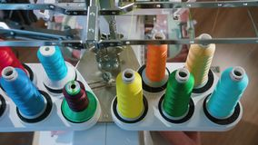 Skein Thread Stand for Embroidery Machines. During operation, the camera moves, frame from the top