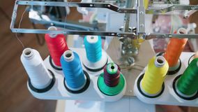 Skein Thread Stand for Embroidery Machines stock image