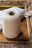 Skein  wool and frame Royalty Free Stock Photography