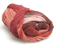 Skein of wool in red Royalty Free Stock Photos