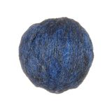 Skein of wool yarn in blue isolated on white background. Royalty Free Stock Photos