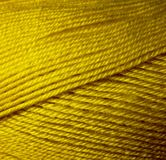Skein of wool yarn. Macro shooting. Texture of wavy thread. Yellow green threads. Background image. Hobbies leisure crafts.  stock image