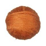 Skein of wool yarn orange isolated on white background. Royalty Free Stock Image