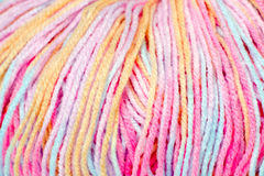 Skein of yarn melange closeup Royalty Free Stock Images