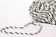 Skein of yarn melange closeup and heart shape Royalty Free Stock Photo
