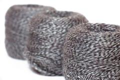 Skein of  yarn melange in row Royalty Free Stock Photo