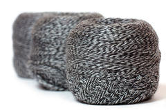 Skein of  yarn melange in row Royalty Free Stock Photos