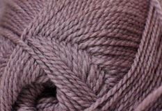 Skein of yarn mocha color Stock Image