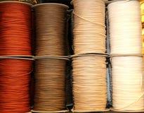 skeins barwione nici wełna i bawełna Obrazy Stock