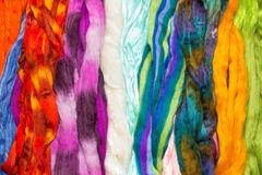 Skeins of brightly colored wool Stock Photography