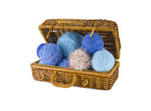 Skeins in coffer Royalty Free Stock Photo