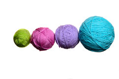 Skeins of colored threads together Stock Images