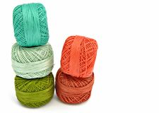 Skeins of colored yarn Royalty Free Stock Image