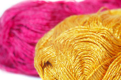 Skeins of  colored yarn Stock Photography