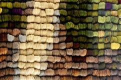 Skeins de lãs dos carneiros Fotografia de Stock
