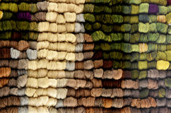 Skeins of sheep  wool Stock Photography