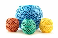 Skeins twine Royalty Free Stock Image