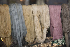 Skeins of wool Royalty Free Stock Photo