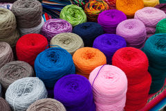 Skeins of wool Stock Photos