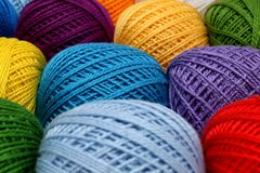 Skeins of yarn Stock Photos