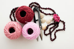 Skeins of yarn Royalty Free Stock Photography