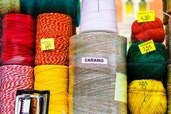Skeins of yarn Stock Photo