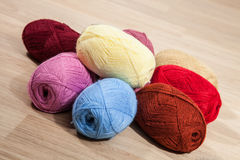 Skeins of yarn Stock Image