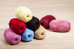 Skeins of yarn Stock Photography