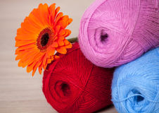 Skeins of yarn Royalty Free Stock Photos
