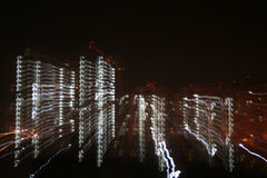 Skelatal digital cities. Abstract arty skeletal cities and nights Royalty Free Stock Photo