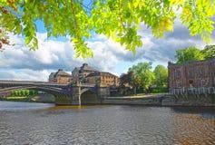 Skeldergate Bridge in York in England Stock Images