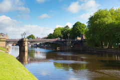 Skeldergate Bridge York England with River Ouse within the walls of the city Royalty Free Stock Images
