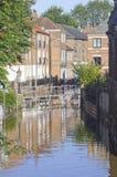 Skeldergate, York. Inundado imagen de archivo libre de regalías