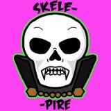 Skelepire, каркасный вампир стоковые изображения rf