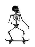 Skelet het Schaatsen Vectorillustratiedruk Stock Foto's