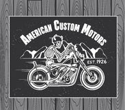 Skelet Rider Motorcycle Stock Afbeeldingen
