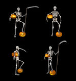 Skelet und Kürbis Lizenzfreie Stockbilder