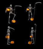 Skelet und Kürbis Lizenzfreie Stockfotografie